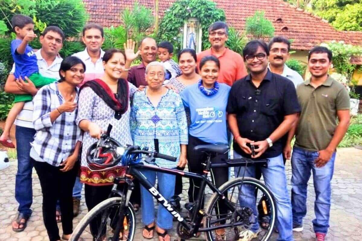 Ride supporting Sarojini Monteiro